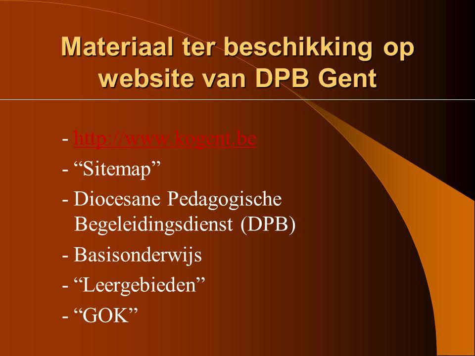 Materiaal ter beschikking op website van DPB Gent