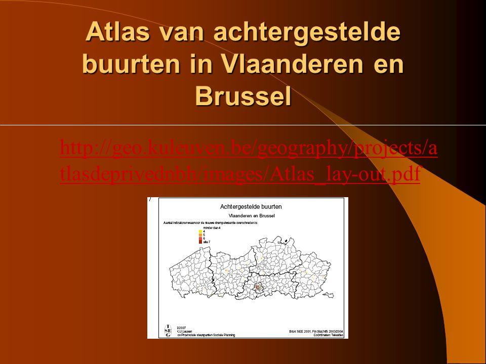 Atlas van achtergestelde buurten in Vlaanderen en Brussel