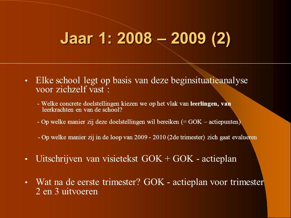 Jaar 1: 2008 – 2009 (2)