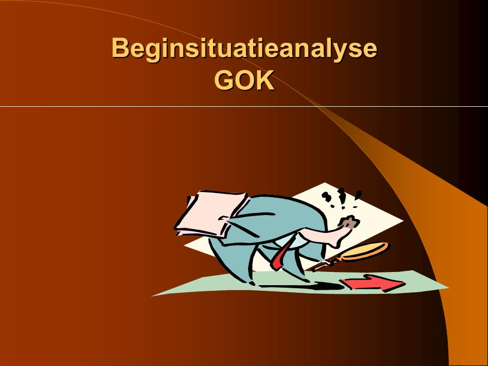 Beginsituatieanalyse GOK