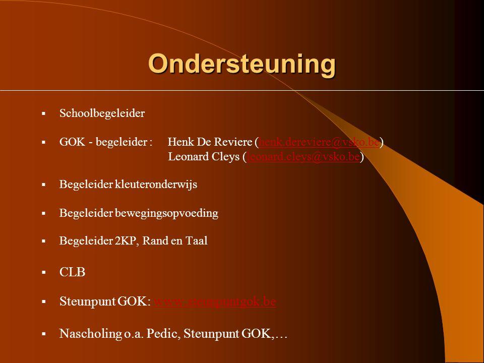 Ondersteuning CLB Steunpunt GOK: www.steunpuntgok.be