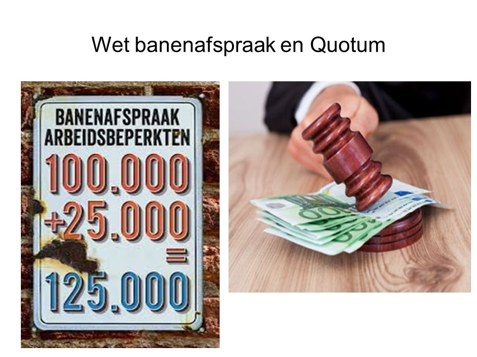 Wet banenafspraak en Quotum