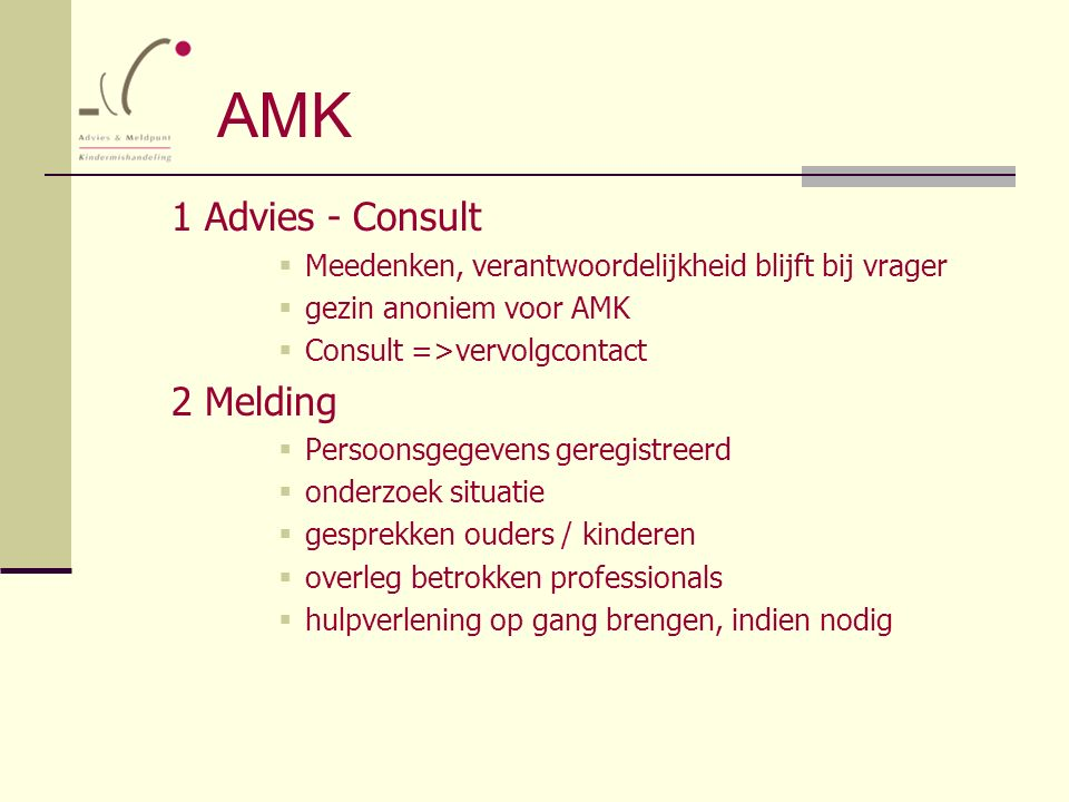 AMK 1 Advies - Consult 2 Melding