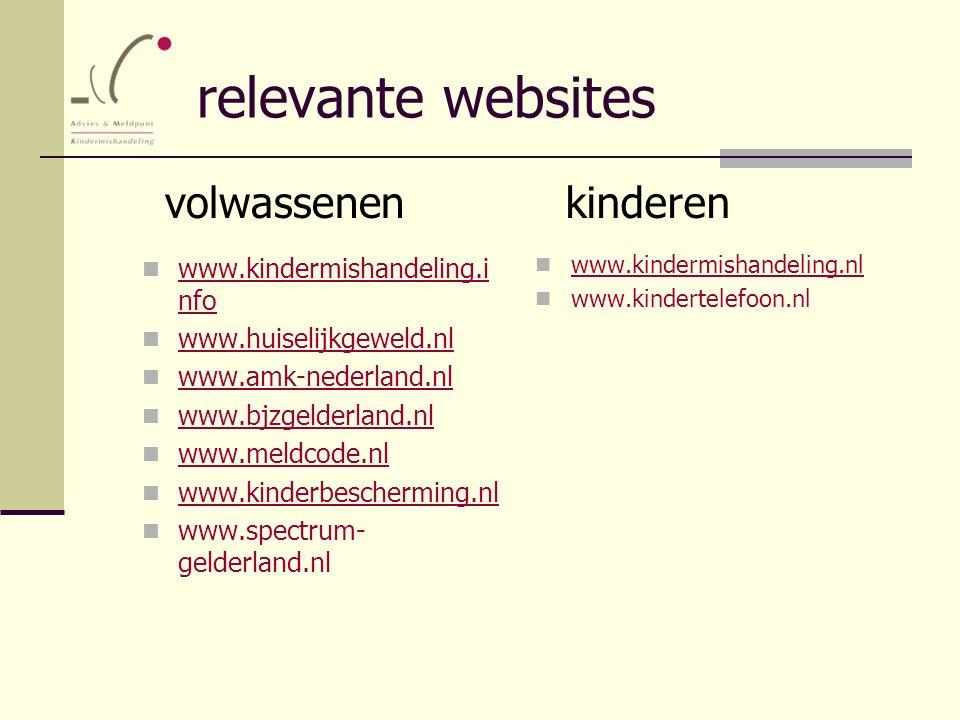relevante websites volwassenen kinderen www.kindermishandeling.info