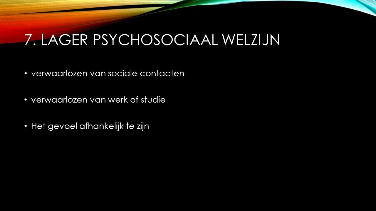 7. lager psychosociaal welzijn