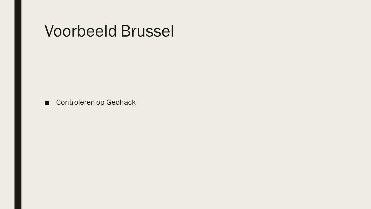 Voorbeeld Brussel Controleren op Geohack