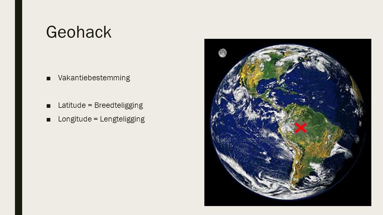 Geohack Vakantiebestemming Latitude = Breedteligging