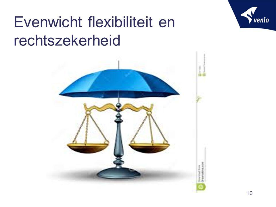 Evenwicht flexibiliteit en rechtszekerheid