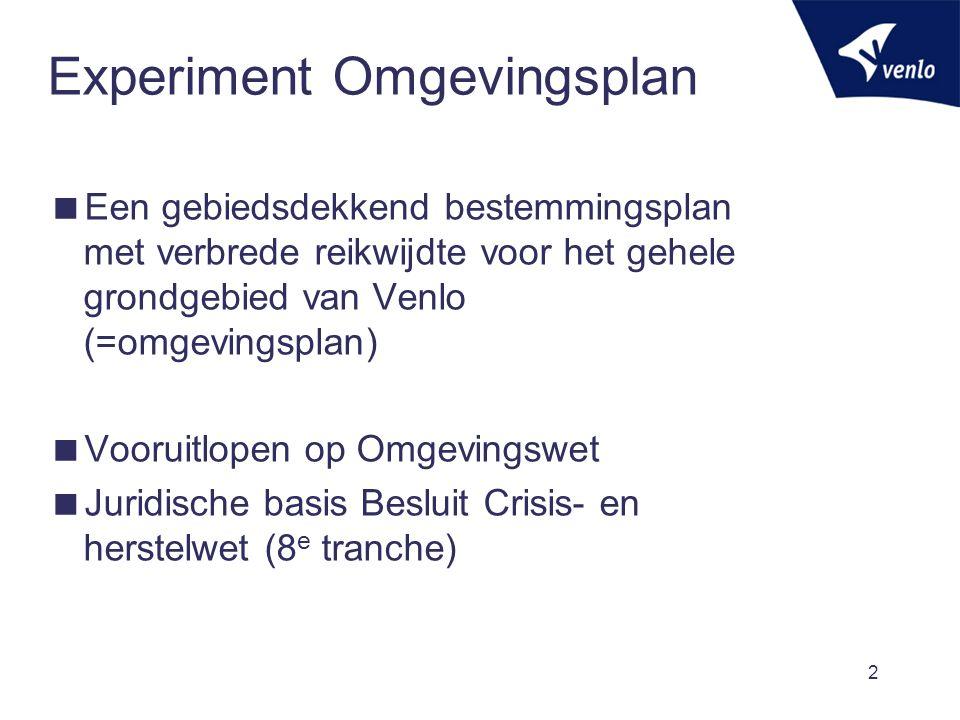 Experiment Omgevingsplan