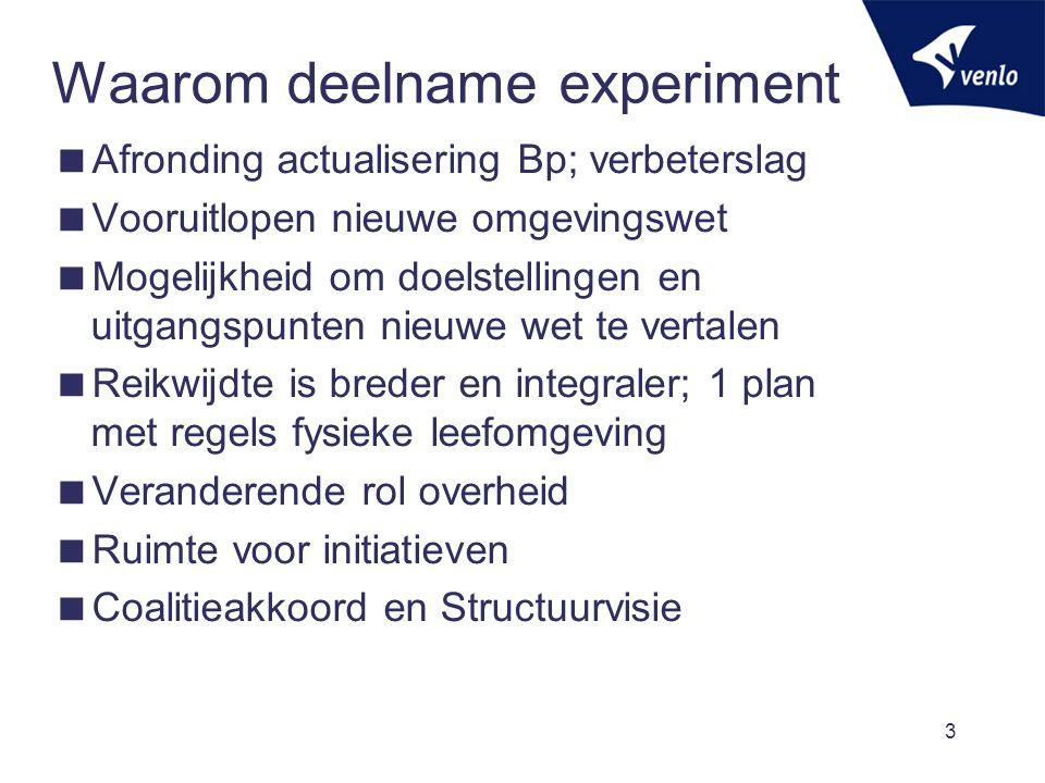 Waarom deelname experiment