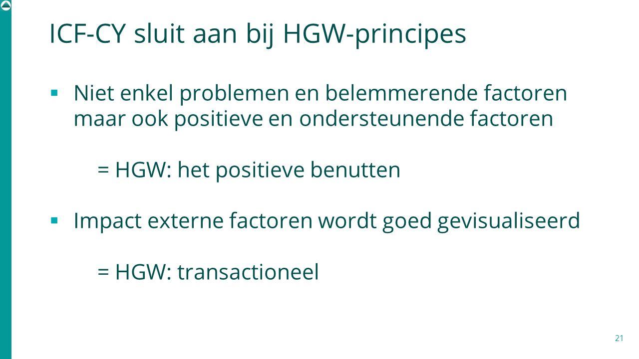 ICF-CY sluit aan bij HGW-principes