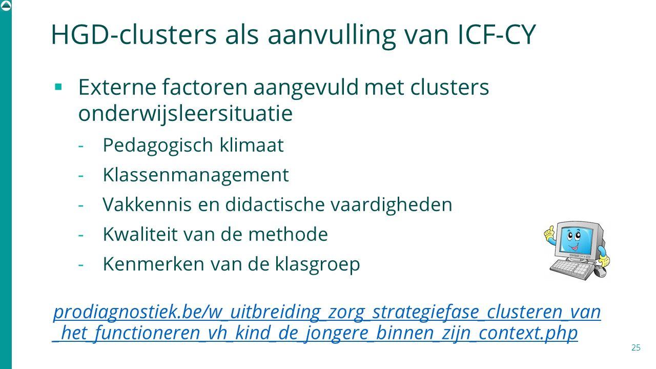 HGD-clusters als aanvulling van ICF-CY