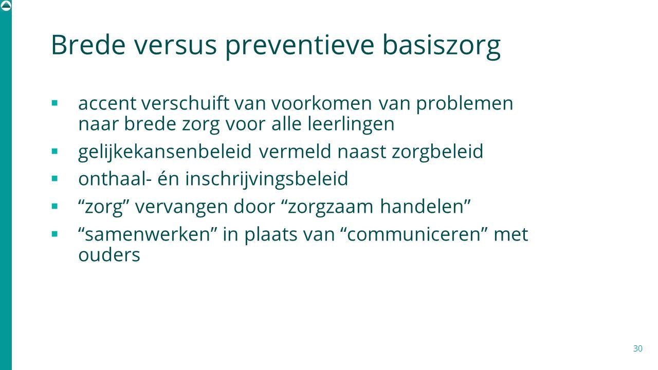 Brede versus preventieve basiszorg