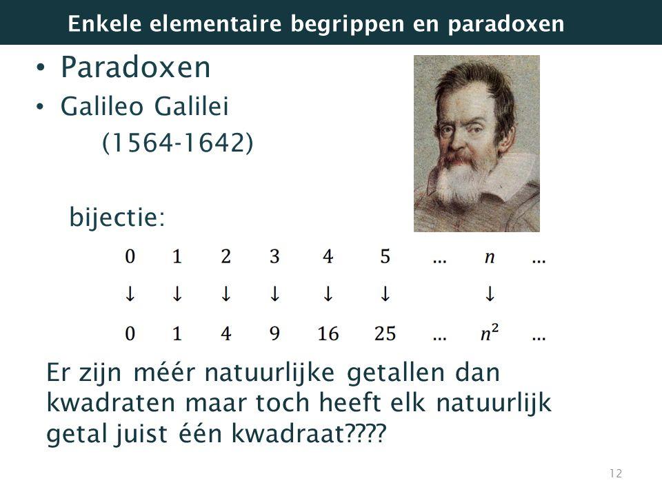 Paradoxen Galileo Galilei (1564-1642) bijectie: