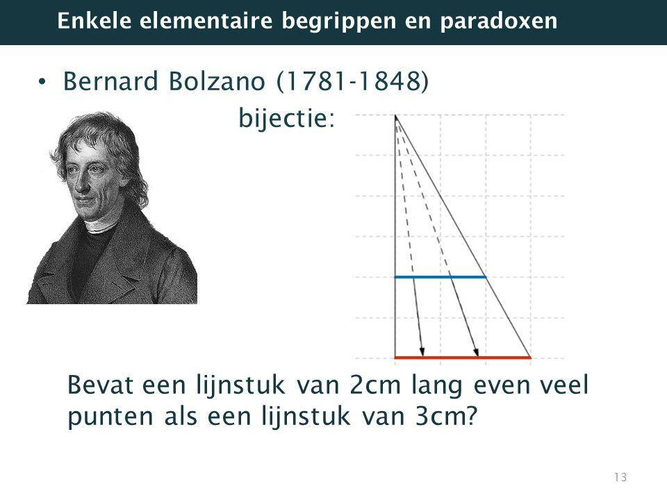 Bernard Bolzano (1781-1848) bijectie: