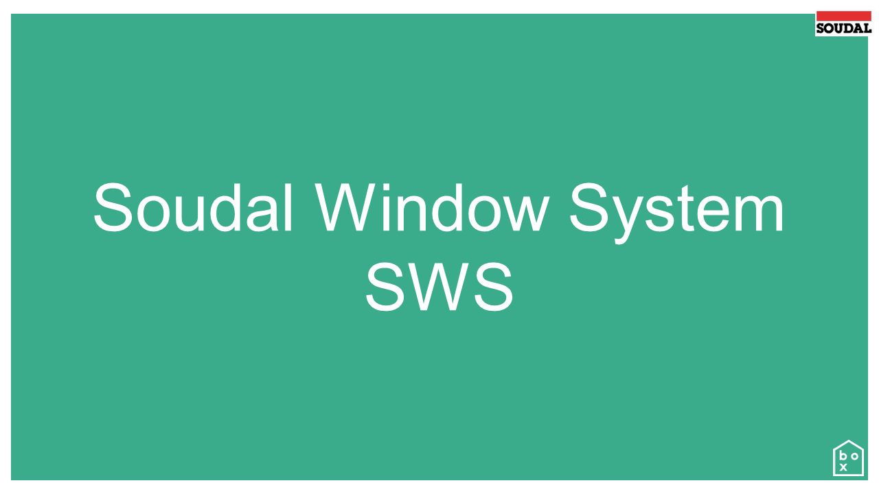 Soudal Window System SWS