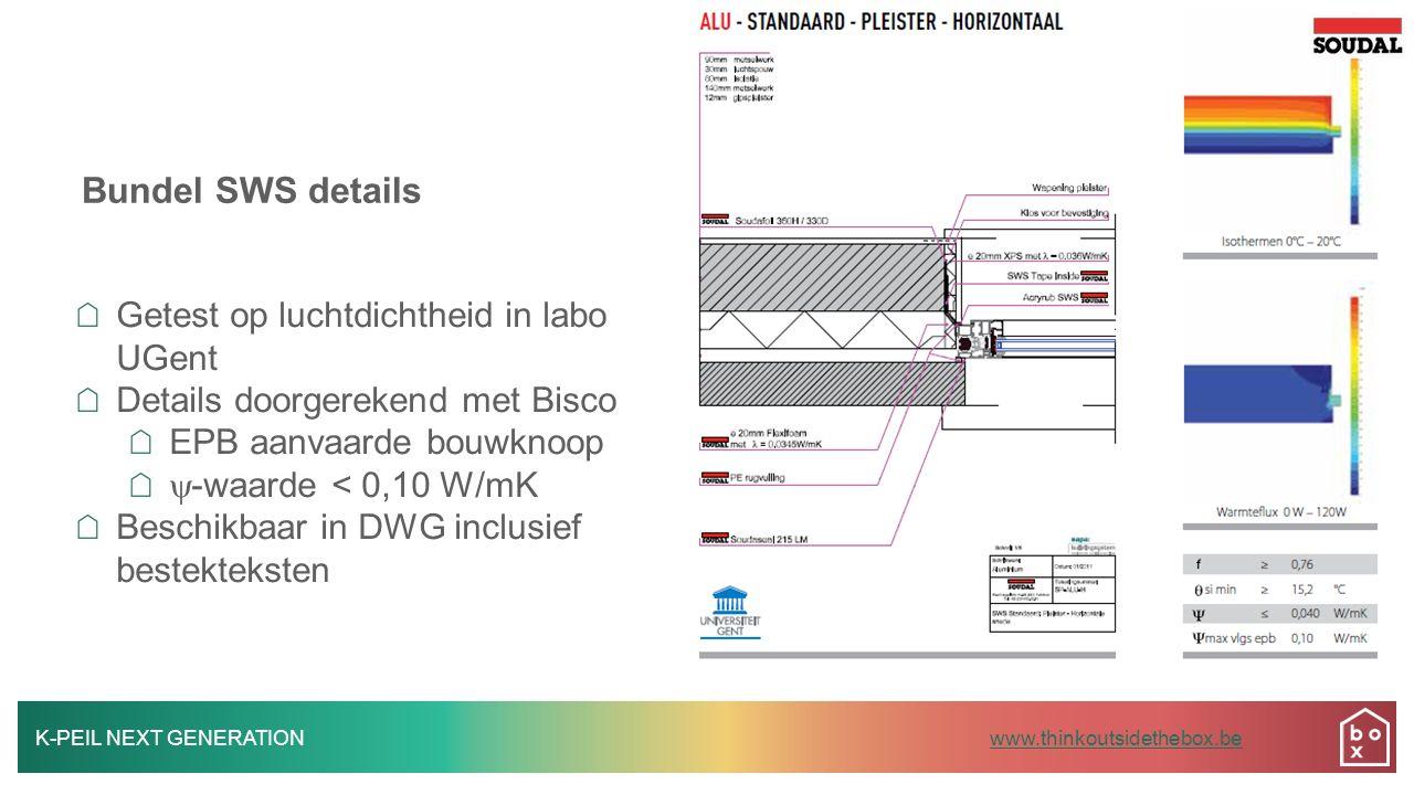 Bundel SWS details Getest op luchtdichtheid in labo UGent