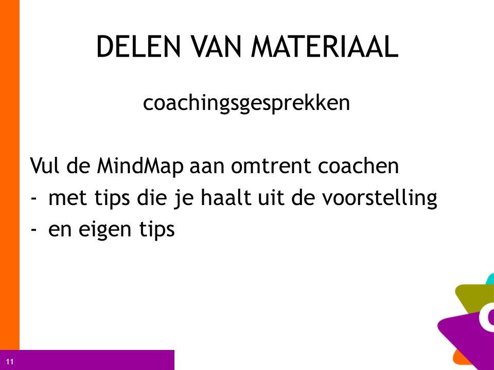 DELEN VAN MATERIAAL coachingsgesprekken