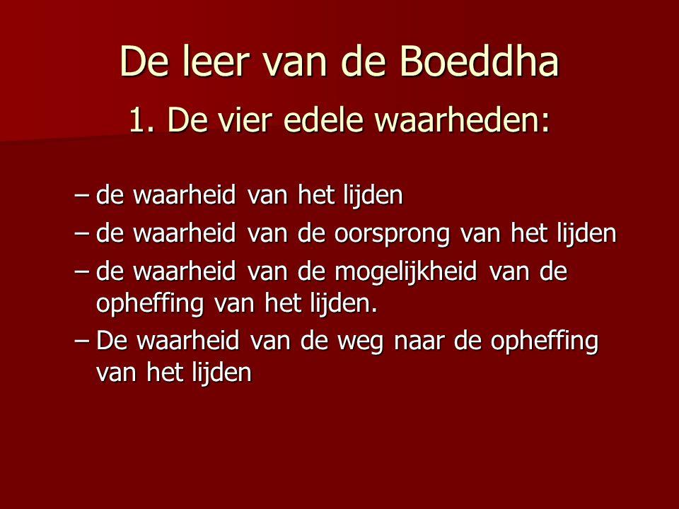 De leer van de Boeddha 1. De vier edele waarheden: