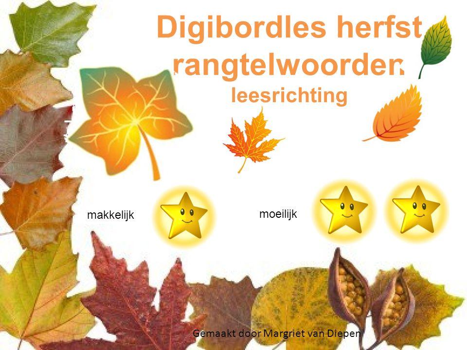 Digibordles herfst rangtelwoorden leesrichting
