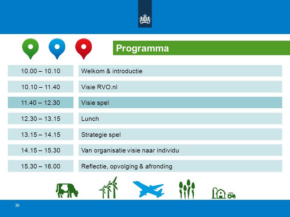 Programma 10.00 – 10.10 Welkom & introductie 10.10 – 11.40