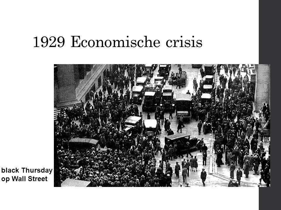 1929 Economische crisis black Thursday op Wall Street