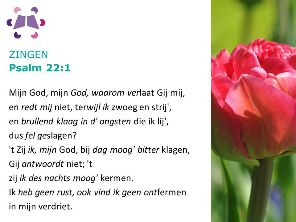 ZINGEN Psalm 22:1.