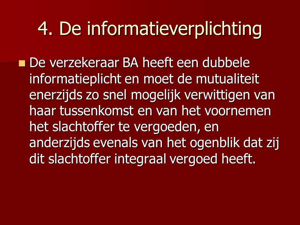 4. De informatieverplichting
