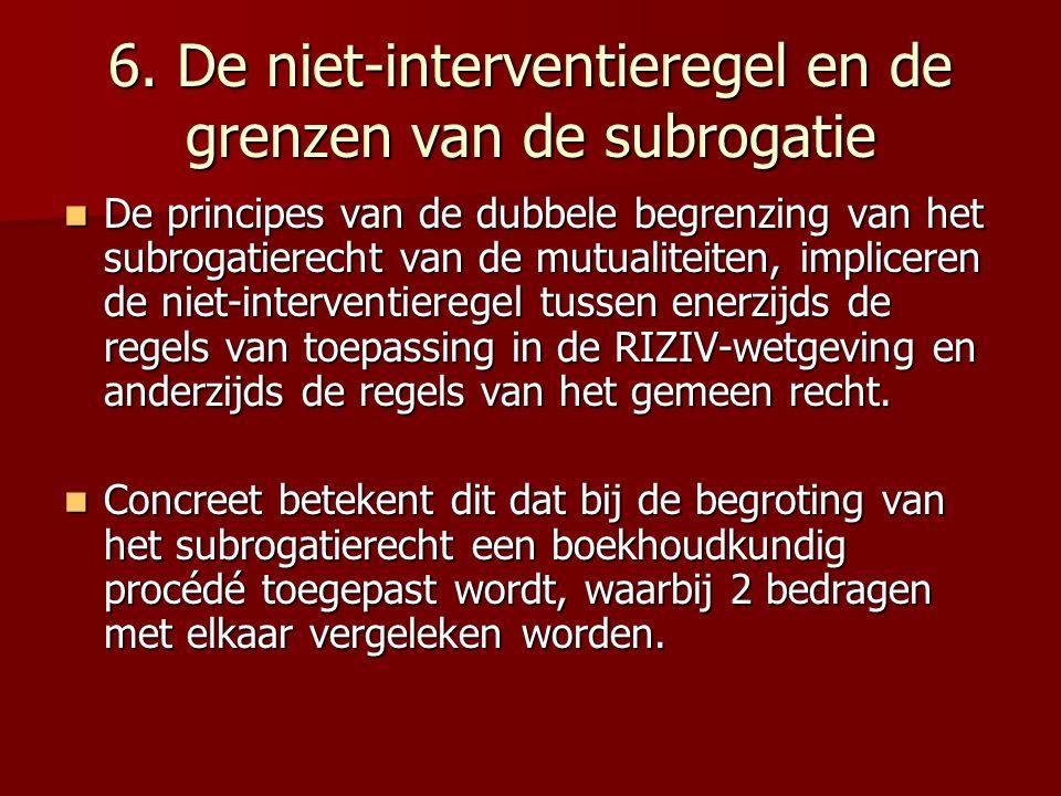 6. De niet-interventieregel en de grenzen van de subrogatie