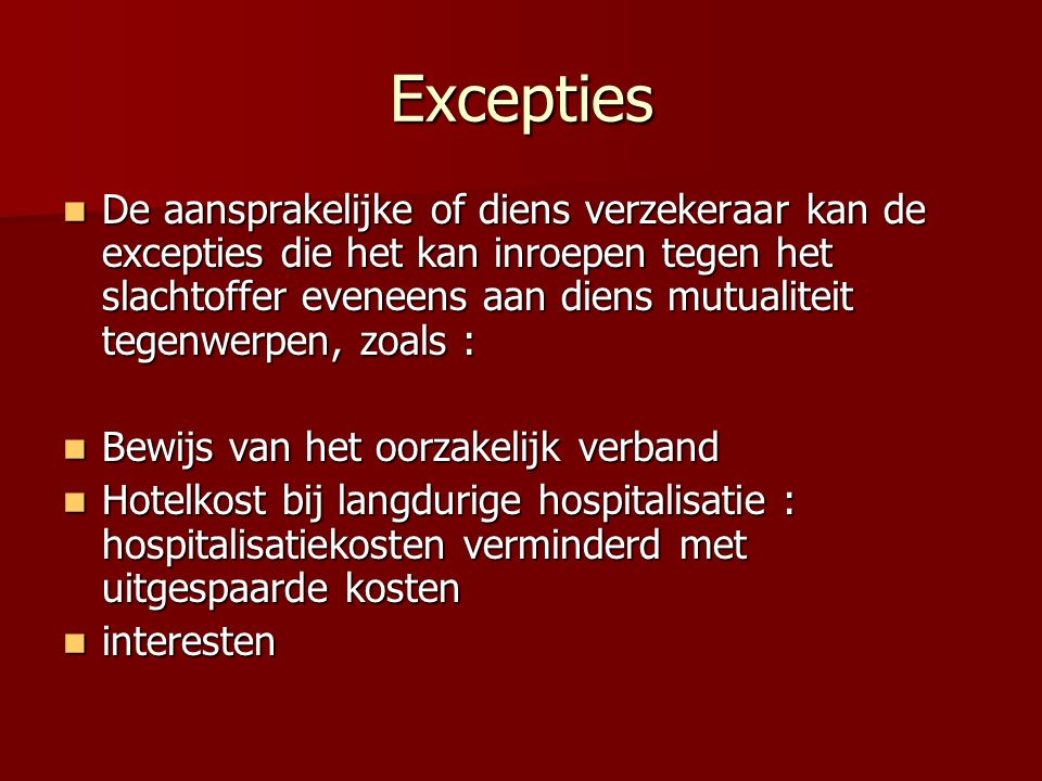 Excepties