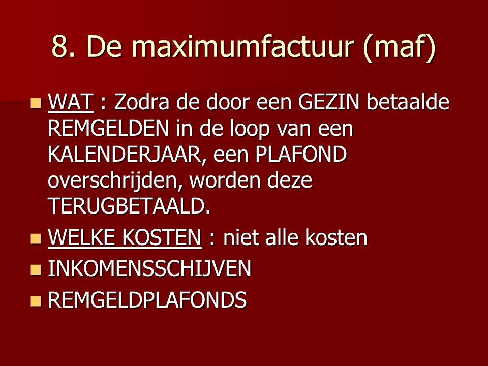 8. De maximumfactuur (maf)