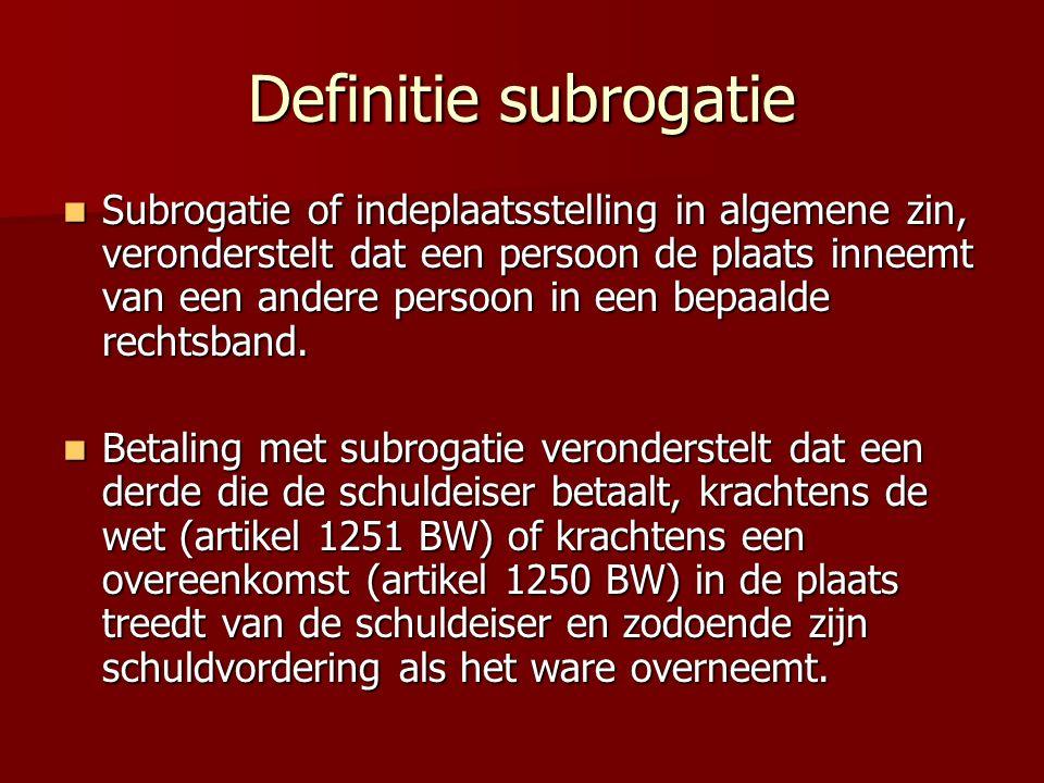 Definitie subrogatie