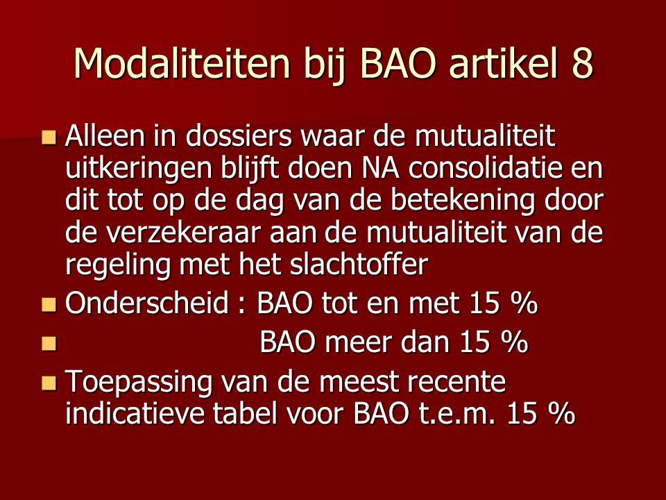 Modaliteiten bij BAO artikel 8