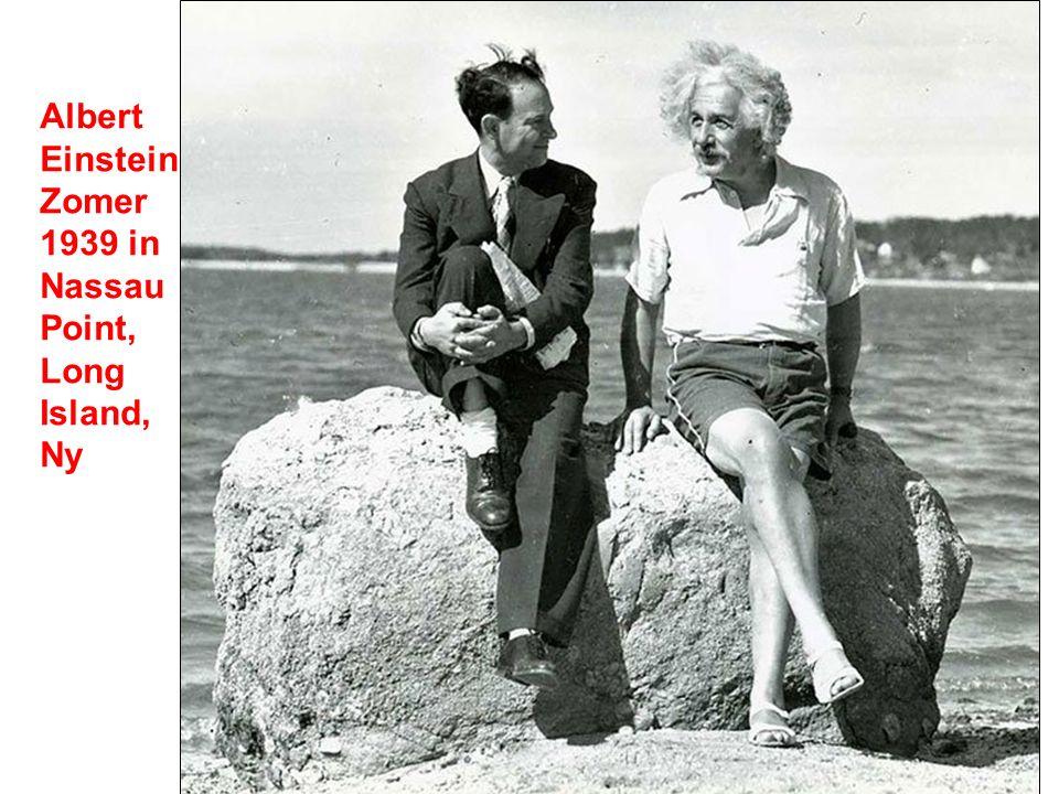 Albert Einstein Zomer 1939 in Nassau Point, Long Island, Ny