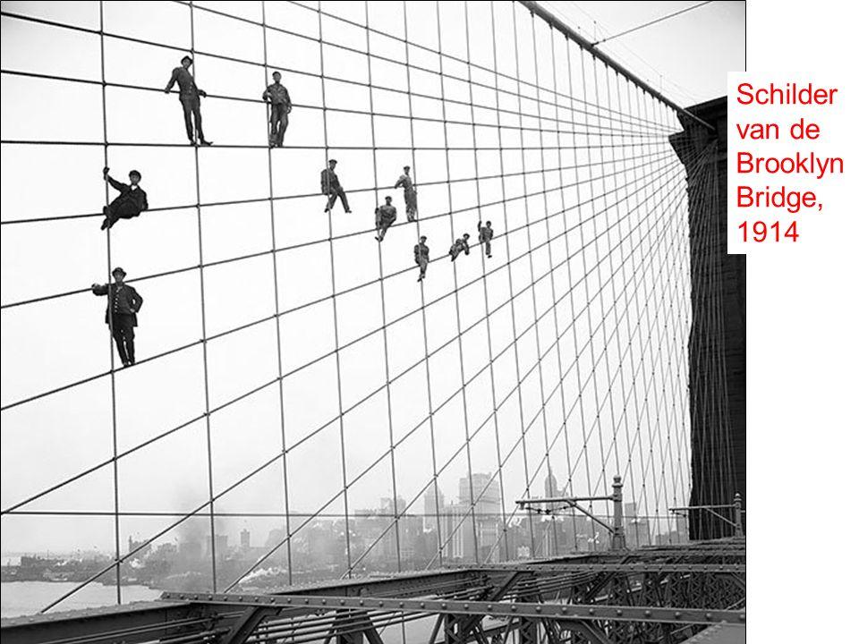 Schilder van de Brooklyn Bridge, 1914