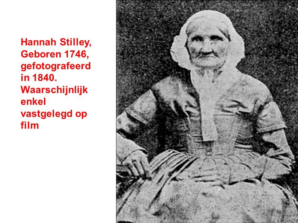 Hannah Stilley, Geboren 1746, gefotografeerd in 1840