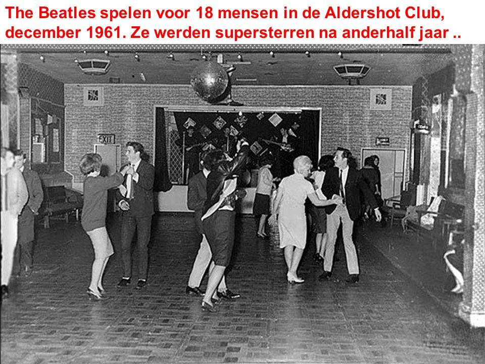 The Beatles spelen voor 18 mensen in de Aldershot Club, december 1961