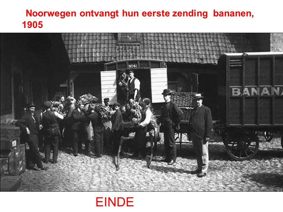 Noorwegen ontvangt hun eerste zending bananen, 1905