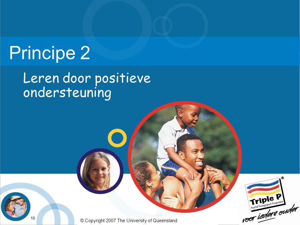 Principe 2 Leren door positieve ondersteuning