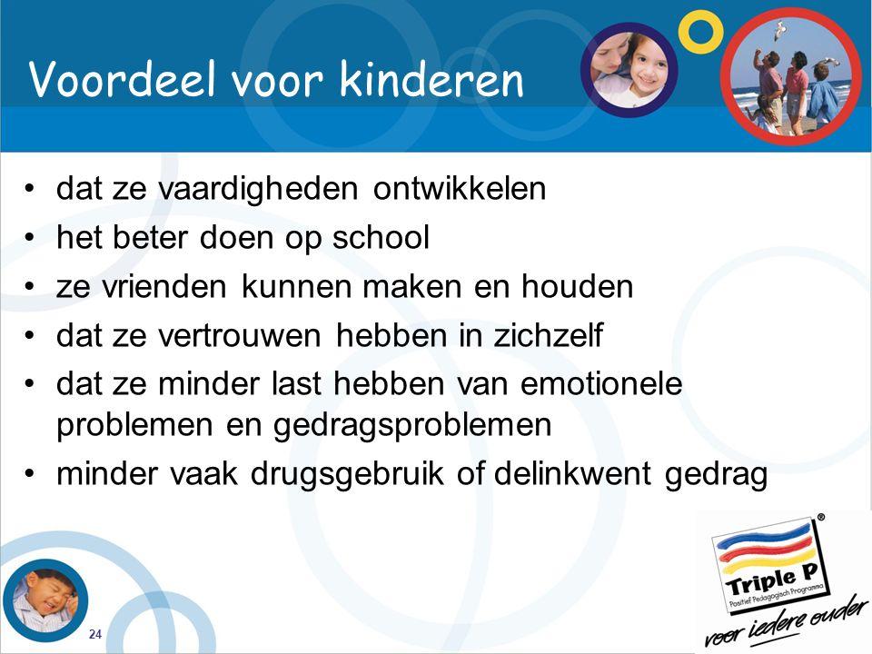 Voordeel voor kinderen