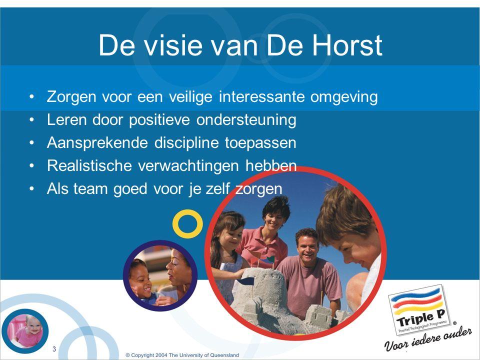 De visie van De Horst Zorgen voor een veilige interessante omgeving