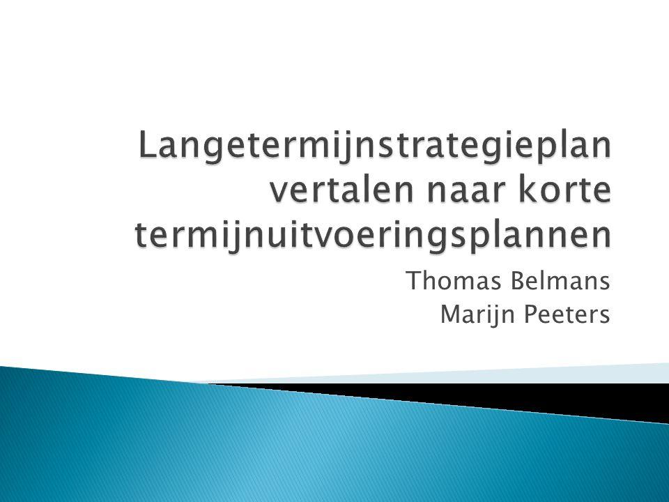 Thomas Belmans Marijn Peeters