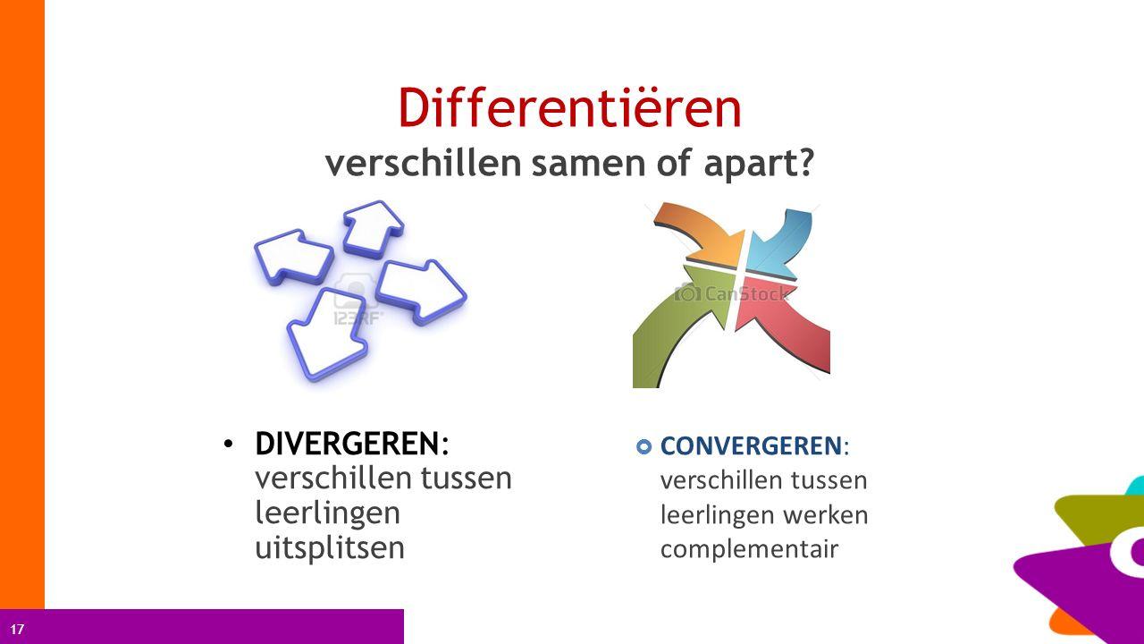 Differentiëren verschillen samen of apart