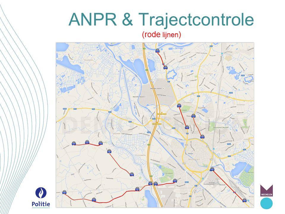 ANPR & Trajectcontrole (rode lijnen)