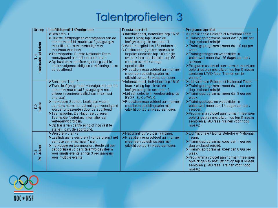 Talentprofielen 3 Vervolg