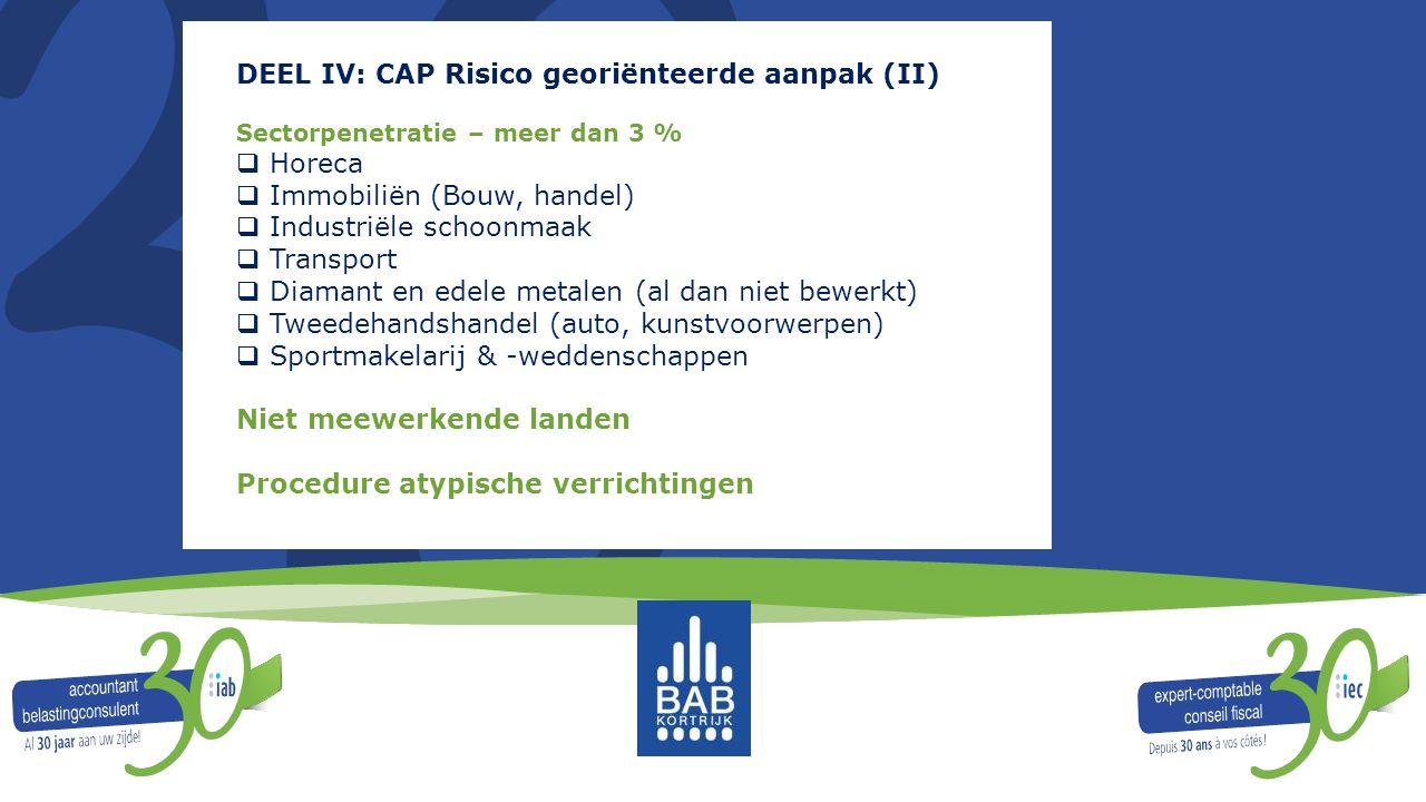 DEEL IV: CAP Risico georiënteerde aanpak (II)