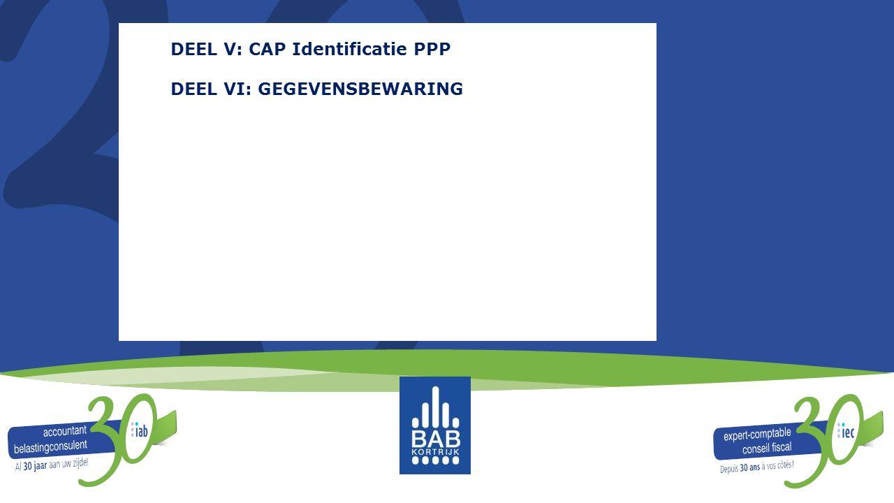 DEEL V: CAP Identificatie PPP