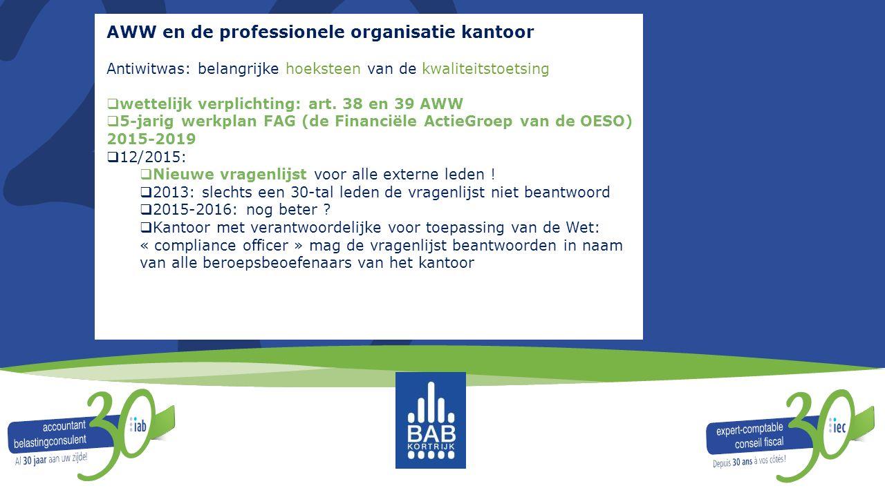 AWW en de professionele organisatie kantoor