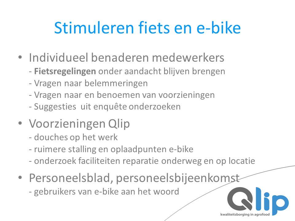 Stimuleren fiets en e-bike