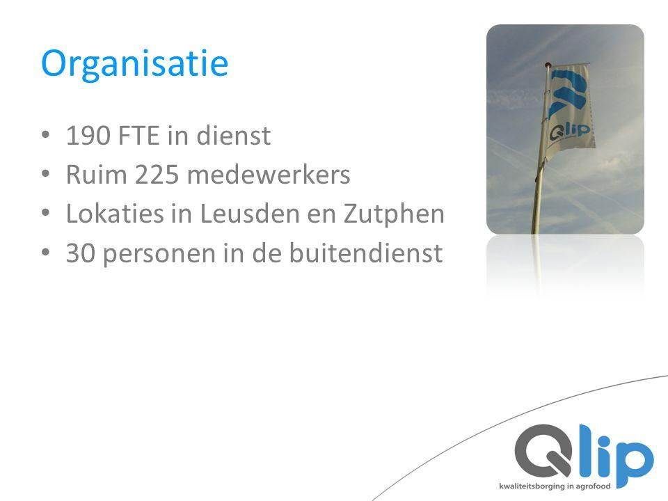 Organisatie 190 FTE in dienst Ruim 225 medewerkers